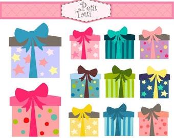 ON SALE gift box clip art - Digital clip art, gift box 2 clip art, instant download, Digital clip art, present clip art, birthday clip art