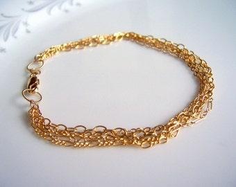Gold multi chain bracelet, gold chain bracelet, gold bracelet, gold jewellery, gold chain bracelet