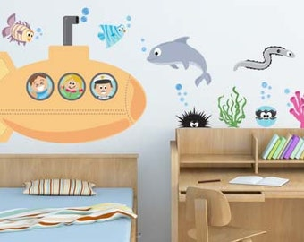 Sea Creatures III - Underwater Animals Removable Wall Decals (Set of 10)