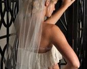 Crystal Veil - Scattered Swarovski Crystals - Elbow Length Veil - White, Diamond White, Ivory, Champagne, Blush