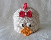 Knitted Baby Hat Baby Hat Knitting Knit Baby Hat Easter Knitted Hat Knitted Baby Beanie Knitted Chicken Baby Hat Children Clothing