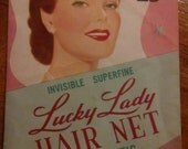 Vintage 'Lucky Lady' Hair Net - package and 4 nets