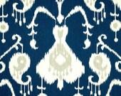 Navy blue ikat decorative pillow cover - Magnolia Java Ikat Navy