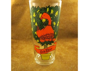 6th Day of Christmas - 6 Geese A-Laying - 12 Days of Christmas Glass - Partridge in a Pear Tree Song -Vintage Pepsi Christmas Glassware