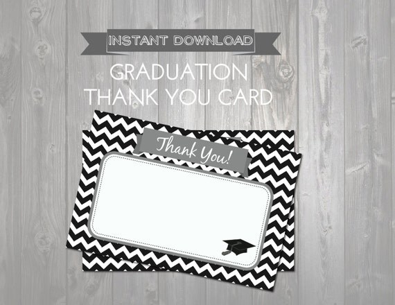 thank you cards printable graduation thank you notes instant