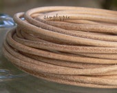 2mm Matte Tan Leather Cord 5FT