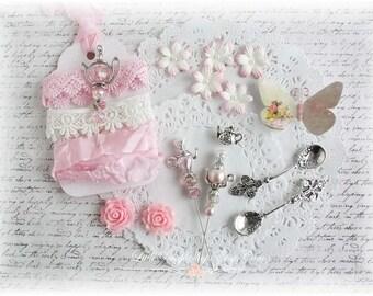 Time For Tea Corrdinated Embellishment Kit for Scrapbooking, Cardmaking, Mini Albums, Tag Art