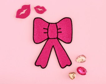 Pink Glitter Bow Patch