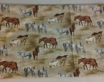 standard size pillowcase of Horses running on the Range 243641+2