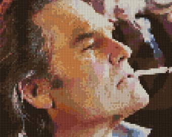 Stuntman Mike counted Cross Stitch Pattern Death Proof Kurt Russell