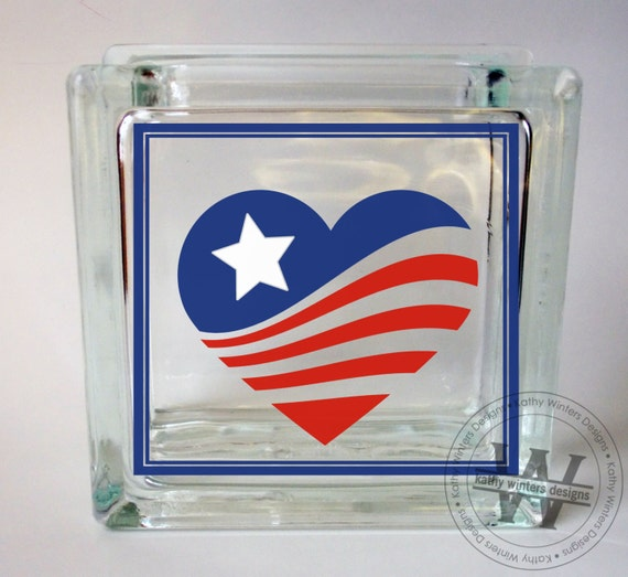 vinyl lettering for glass vinyl lettering glass block decal patriotic by kwintersdesigns 15847