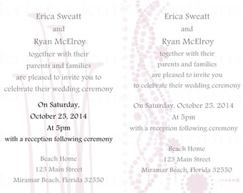 Customizable DIGITAL Wedding Invitation