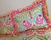 Kumari Garden Double Ruffle Shams, Kumari Garden Pillow Shams, Double ruffle shams, Children's Bedding Shams, Children's Pillows, Fancy