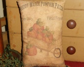 Pumpkin Cart Printed Pillow tuck