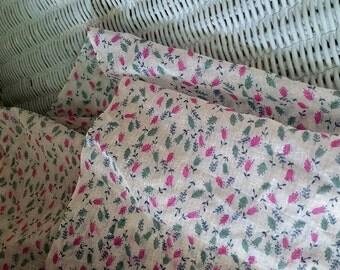 Pink Tulip Semi-Sheer Beatiful Vintage Fabric Six Yards