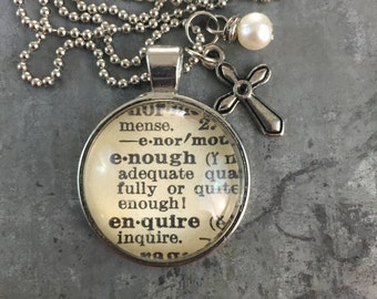 One Word Dictionary Necklace- Enough with Charm