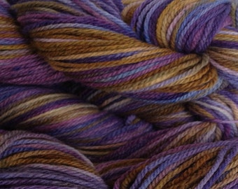 Violet Park Purple Olive Wool Yarn Hand Dyed Merino Wool Worsted Weight Yarn Handpainted