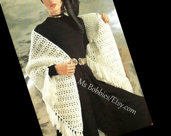 Crochet Shawl Pattern -PDF 05297435