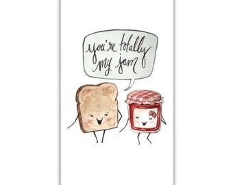 You're Totally My Jam - iPhone 6 / iPhone 5/5S -  Adorable Pun Phone Case