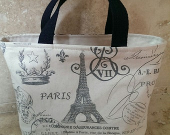Handmade Lunch bag - Paris Eiffel Tower