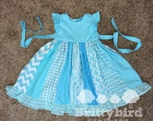 Reserved For Missy: Ready to Ship Girls Blue Dress Size 5