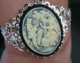 Gorgeous Romantic Couple Cuff  Bracelet -- 20-25% off Jewelry SALE