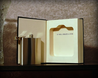 Hollow Book Safe & Flask (The Book of Answers)