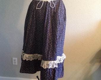 1960s 1970s Gunne sax calico floral print skirt