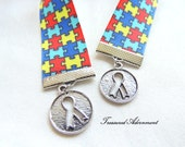 Bookmark, Autism Awareness Ribbon Bookmark, Gift  for Book lover, Thank you gift for teacher, Therapist, Autism Mom, Apergers Syndrome, ASD