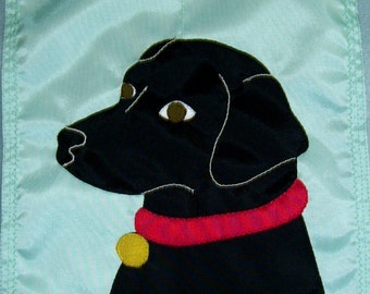 Black Labrador Retriever  12  inch by 18 inch Garden  Flag