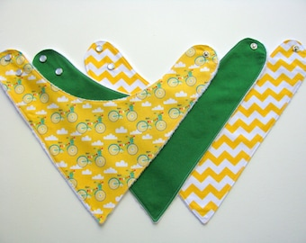 Baby Bibs  Bandana Bibs   Bicycles and Solids   199 abc