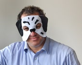 ADULT Dalmatian Mask, Halloween or Carnival Dog Dress up Mask for Mend and Women