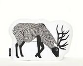 deer plush, deer pillow, stag pillow, animal pillow, animal cushion, deer cushion, woodland animals, woodland nursery, forest animals