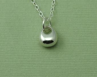 Rain Drop Necklace - Sterling Silver Tear Drop Pendant Jewelry, Rain Drop Necklace, Charm Necklace, Trendy Necklaces, Birthday Gift