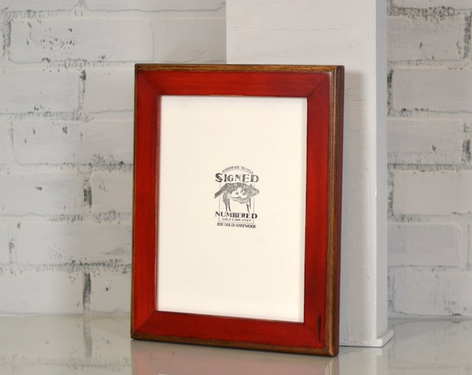 8.5x11 inch Picture Frame in 2-tone Style and Finish Color OF YOUR CHOICE - Rustic 8.5x11 Picture Frame - Wooden Frame 8.5x11 Letter size