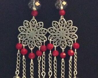 Blood Red earrings