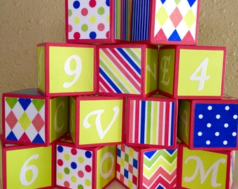 Colorful and Girly Building Blocks