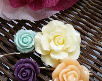 Winter Rose Hairpins