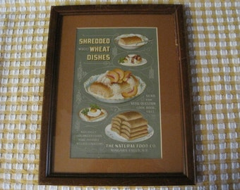 Framed Shredded Wheat - Natural Food Co., Niagara Falls, NY Advertising Card