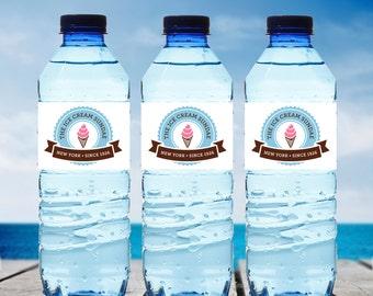 Custom Logo Water Bottle Label