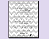 You'll Just Have Heaven Before We Do (miscarriage remembrance print)  - gray chevron, INSTANT DOWNLOAD