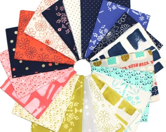 Paper Bandana Fat Quarter Bundle by Alexia Marcelle Abegg for Cotton + Steel (July 2015)