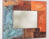 47 x 38 inch Metal and Copper Mirror