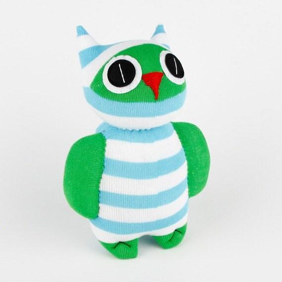 Christmas gift Handmade Sock Owl Stuffed Animal Doll Baby Toys