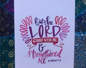 2 Timothy 4:17 | 8x10 Watercolor Print