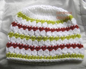 CROCHET PATTERN - Forest Cove - Tri colour Beanie/Hat/Cloche - Easy skill level