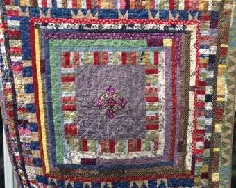 Quilt, Lap, Colorful Jewel