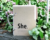 Personal diary, She Journal Diary: personal diary with writing prompts for women in kraft brown