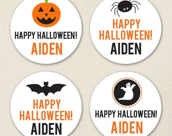 Halloween Stickers - Sheet of 12 or 24