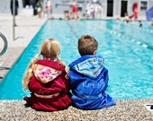 It's MINE - personalized bath robe for GIRLS in soft terry velour fabric